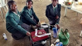 African girls' pee-powered generator raises...