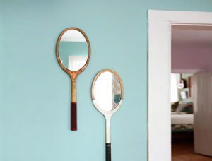 DIY tennis mirrors